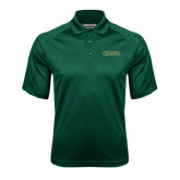 Dark Green Textured Saddle Shoulder Polo-Saint Leo University
