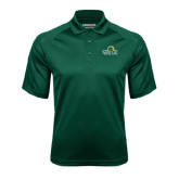 Dark Green Textured Saddle Shoulder Polo-Saint Leo University - Institutional Mark