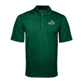 Dark Green Mini Stripe Polo-Saint Leo University - Institutional Mark