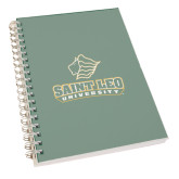 Clear 7 x 10 Spiral Journal Notebook-Saint Leo University - Official Logo