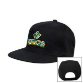Black Flat Bill Snapback Hat-Saint Leo University - Official Logo