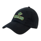Black Twill Unstructured Low Profile Hat-Saint Leo University - Official Logo