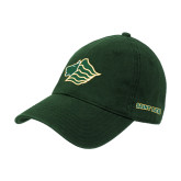 Dark Green Twill Unstructured Low Profile Hat-Lion Head