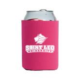 Neoprene Hot Pink Can Holder-Saint Leo University - Official Logo