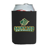 Neoprene Black Can Holder-Saint Leo University - Official Logo