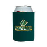 Collapsible Green Can Holder-Saint Leo University - Official Logo