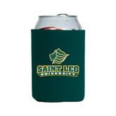 Neoprene Green Can Holder-Saint Leo University - Official Logo