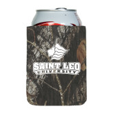 Collapsible Mossy Oak Camo Can Holder-Saint Leo University - Official Logo