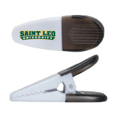 White Crocodile Clip/Magnet-Saint Leo University