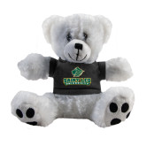 Plush Big Paw 8 1/2 inch White Bear w/Black Shirt-Saint Leo University - Official Logo