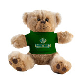 Plush Big Paw 8 1/2 inch Brown Bear w/Dark Green Shirt-Saint Leo University - Official Logo