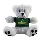 Plush Big Paw 8 1/2 inch White Bear w/Dark Green Shirt-Saint Leo University - Official Logo