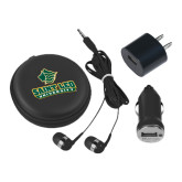 3 in 1 Black Audio Travel Kit-Saint Leo University - Official Logo