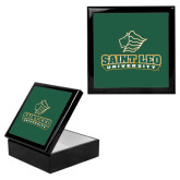 Ebony Black Accessory Box With 6 x 6 Tile-Saint Leo University - Official Logo