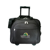 Embassy Plus Rolling Black Compu Brief-Saint Leo University - Institutional Mark