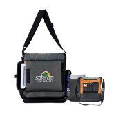 Impact Vertical Grey Computer Messenger Bag-Saint Leo University - Institutional Mark
