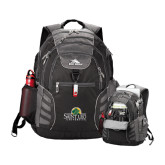 High Sierra Big Wig Black Compu Backpack-Saint Leo University - Institutional Mark