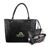 Sophia Checkpoint Friendly Black Compu Tote-Saint Leo University - Institutional Mark