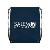 Navy Drawstring Backpack-Media Group