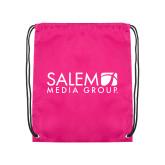 Pink Drawstring Backpack-Media Group