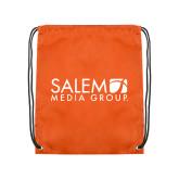Orange Drawstring Backpack-Media Group