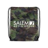 Camo Drawstring Backpack-Media Group