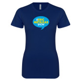 Next Level Ladies SoftStyle Junior Fitted Navy Tee-The Eric Metaxas Show