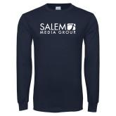 Navy Long Sleeve T Shirt-Media Group