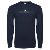 Navy Long Sleeve T Shirt-The Dennis Prager Show