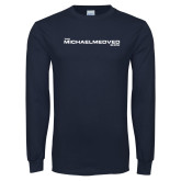 Navy Long Sleeve T Shirt-The Michael Medved Show