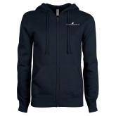 ENZA Ladies Navy Fleece Full Zip Hoodie-The Dennis Prager Show