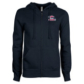 ENZA Ladies Navy Fleece Full Zip Hoodie-Joe Walsh
