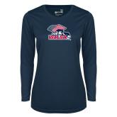 Ladies Syntrel Performance Navy Longsleeve Shirt-Joe Walsh