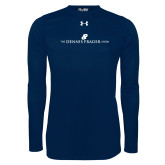 Under Armour Navy Long Sleeve Tech Tee-The Dennis Prager Show