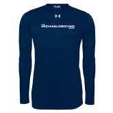 Under Armour Navy Long Sleeve Tech Tee-The Michael Medved Show