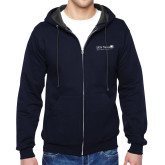 Navy Fleece Full Zip Hoodie-Salem Radio Network News