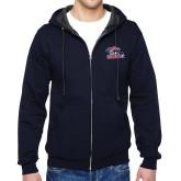 Navy Fleece Full Zip Hoodie-Joe Walsh