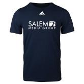 Adidas Navy Logo T Shirt-Media Group