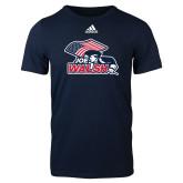 Adidas Navy Logo T Shirt-Joe Walsh