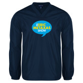 V Neck Navy Raglan Windshirt-The Eric Metaxas Show