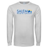 White Long Sleeve T Shirt-Media Group