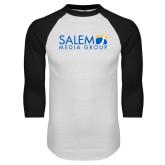 White/Black Raglan Baseball T Shirt-Media Group