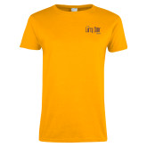 Ladies Gold T Shirt-The Larry Elder Show