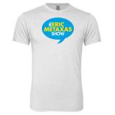 Next Level Heather White Tri Blend Crew-The Eric Metaxas Show
