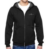 Black Fleece Full Zip Hoodie-The Dennis Prager Show