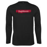 Performance Black Longsleeve Shirt-Hugh Hewitt