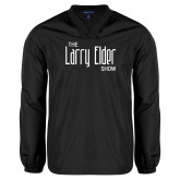 V Neck Black Raglan Windshirt-The Larry Elder Show