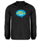 V Neck Black Raglan Windshirt-The Eric Metaxas Show