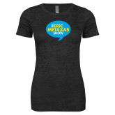 Next Level Ladies Junior Fit Black Burnout Tee-The Eric Metaxas Show