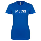Next Level Ladies SoftStyle Junior Fitted Royal Tee-Media Group